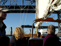 Sailing under the Oakland Bay Bridge
